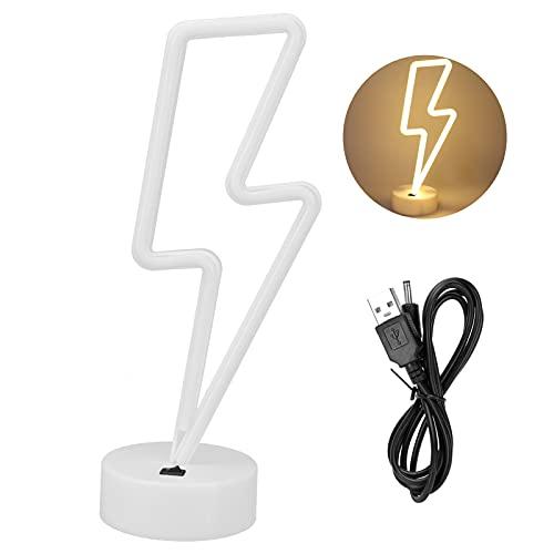 Luz de neón LED única, blanca cálida, colgante de pared, señales luminosas decorativas, lámpara de noche para boda, fiesta, USB/batería