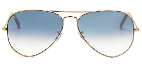 Ray-Ban Aviator no polarizado gafas de sol Gold Frame/Crystal Gradient Light Blue Lens