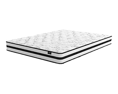 Ashley Furniture Signature Design - 8 Inch Chime Express Hybrid Innerspring Mattress - Bed in a Box - Twin- White