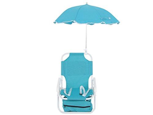 Dajar Liegen stuhl mit Sonnenschirm für Kinder, blau