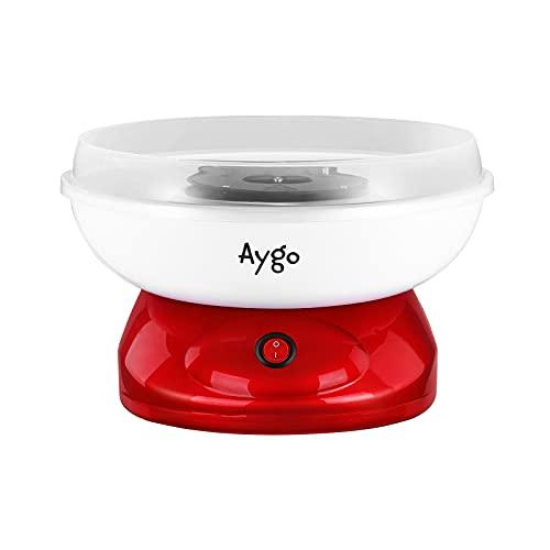 Aygo Zuckerwattemaschine für Zuhause | Retro Cotton Candy Machine | mit Zucker oder Zuckerfreie Harte Süßigkeiten Bonbons zu Benutzen | 500W