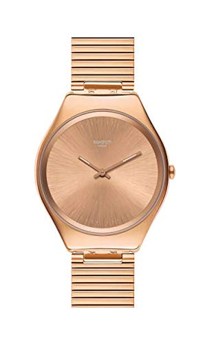 Swatch Reloj Analógico para Mujer de Cuarzo Suizo con Correa en Acero Inoxidable SYXG101GG