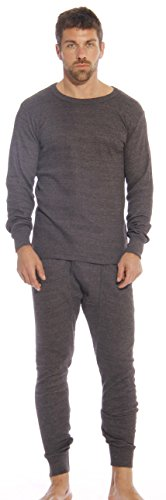 At The Buzzer Thermal Underwear Set for Men 95962-Charcoal-L