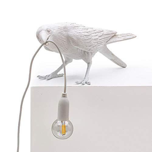 Seletti Bird Indoor/Outdoor Table Lamp, Playing Colour: Seletti White