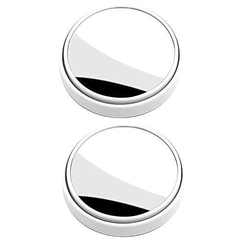 Heylas Zelfklevende convexe spiegel voor in de auto, nooit meer dodehoek, 360 graden draaibare dodehoekspiegel, auto met kijkveld, dode hoekspiegel