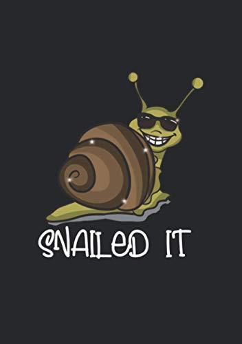 Notizbuch A5 liniert mit Softcover Design: Snailed it! Lustige Schnecke Geschenk mit Sonnenbrille: 120 linierte DIN A5 Seiten