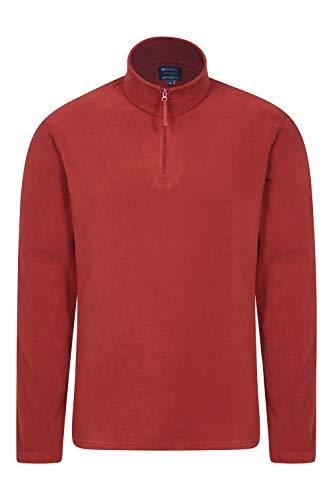 Mountain Warehouse Herren-Camber-Fleece - Ultraleicht, atmungsaktiv, wasserdichte Jacke, schnell trocknend, Antipilling-Sweatshirt, extra Belüftung - zum Wandern, Winter Dunkelrot Large
