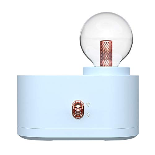 Fineday Humidifier Mute Household Small Atomizer USB Rechargeable Night Light Bedroom, humidifier, for Christmas Day (Blue)