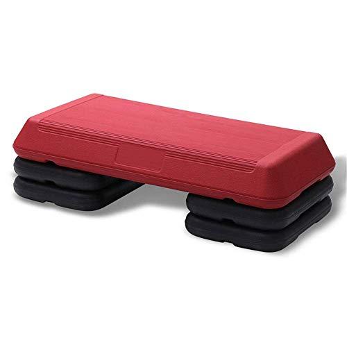 8bayfa Stepper Plank Kleine aerobic-stepper stap stappen oefeningen Cardio Gym Yoga hometraining Pilates-platform verbeteren coördinatie 3 niveaus instelbare stepppers (kleur: rood, maat: 72cm)
