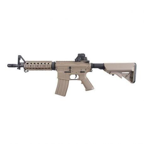 Cyma Rifle Táctico Airsoft M4 CQB ABS Aeg, Eléctrico, Color Marrón Desierto,...