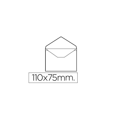 Liderpapel SB03 - Pack de 100 sobres tarjeta de visita, 70 x 110 mm, color blanco