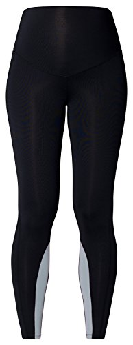 Noppies Umstands- Leggings Sport Damen- Sportleggings Umstandsleggings Quick-Dry-Beschichtung Leggins (Medium/Large', schwarz (black))