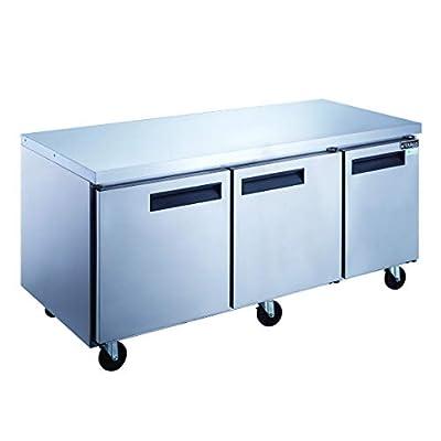 Dukers DUC72F 3-Door Undercounter Commercial Freezer in Stainless Steel