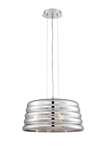 "Lite Source EL-10135 Venice Pendant, Chrome Finish, 15.5"" W x 72"" H"