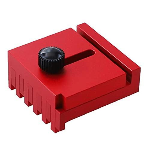 Tabla intersticios de aserrado de la madera Medidor de aleación de aluminio Profundidad herramienta de medición Medición Regla Línea diente de sierra regla rojo Style2 herramienta de medición