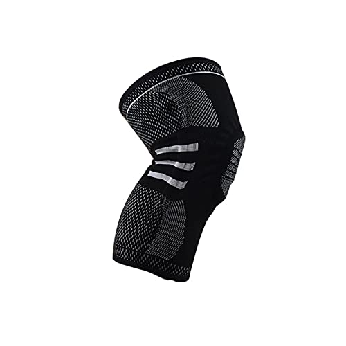 Rodilleras Rodilleras Protector de rótula Silicona Primavera Rodilleras Baloncesto Voleibol Compresión Rodilla M Blackandwhite-1Pc