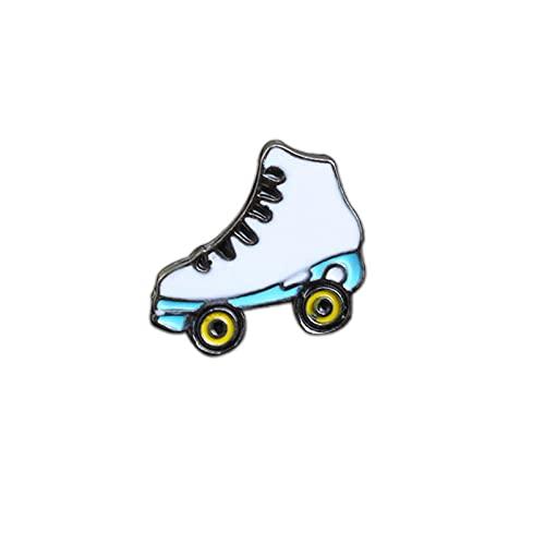 ROTOOY Broches Deportivos de Moda Taoísmo Tai Chi Tabla de Surf Skateboard Máquina de Juego Zapatos con Ruedas Bicicleta Viajes Mundo Insignias Pines Moneda Regalos-Patines
