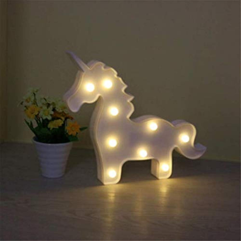 Ceiling Light-A Nachtlicht Kreative Einhorn Bunny Br Tier Modellierung Lichter Raumdekoration Nette Nacht Lichter Kindertag Geschenke
