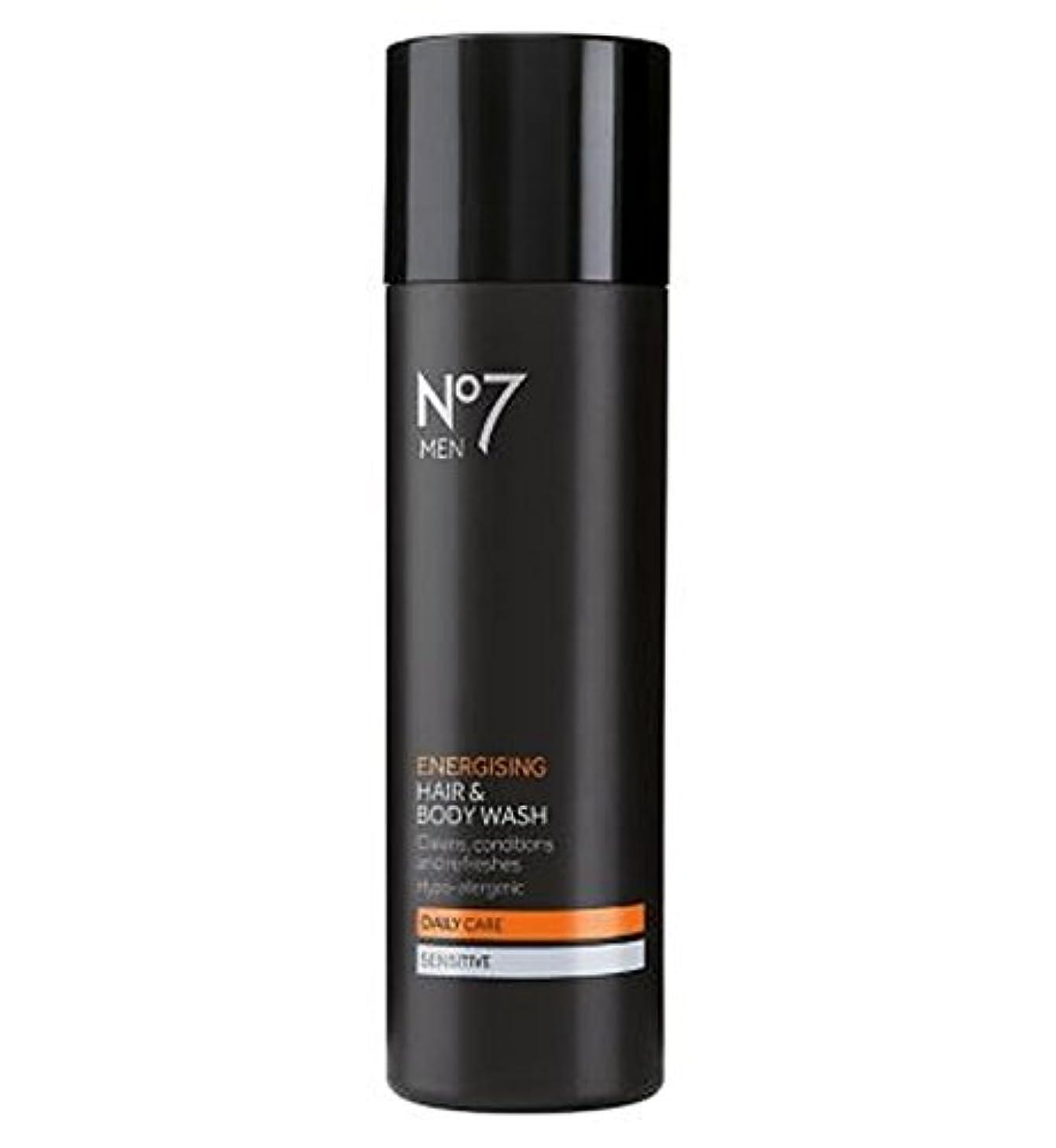 なしで遺跡銃ヘア&ボディウォッシュ200ミリリットルを通電No7の男性 (No7) (x2) - No7 Men Energising Hair & Body Wash 200ml (Pack of 2) [並行輸入品]