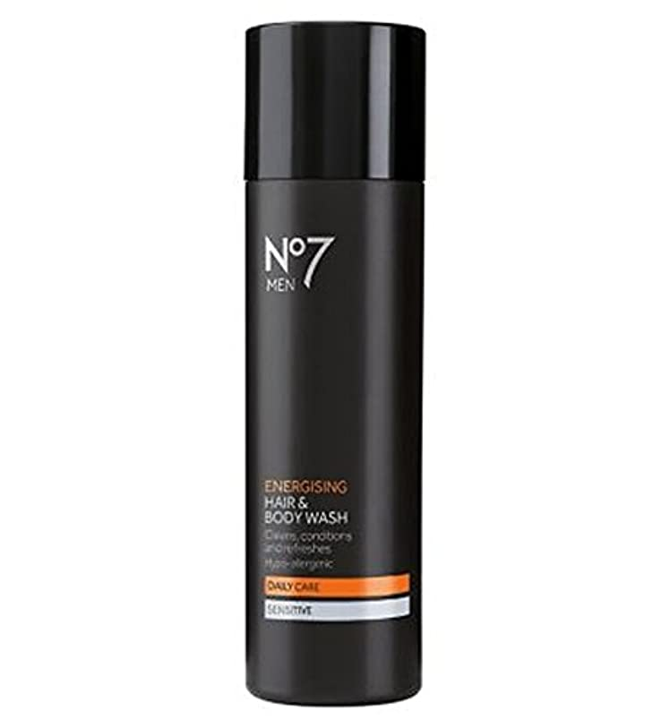 トランジスタ鎮痛剤屋内No7 Men Energising Hair & Body Wash 200ml - ヘア&ボディウォッシュ200ミリリットルを通電No7の男性 (No7) [並行輸入品]