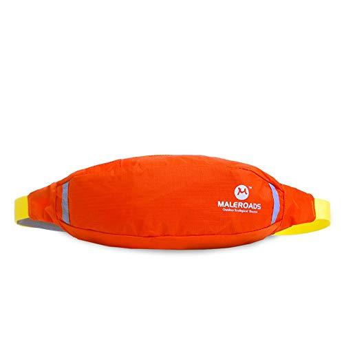 LNLZle Sport, la Meute, Bras de Sac, Hommes et Outdoor Taille Pack, organe Mobile Taille Sac antivol,Orange,6 cm