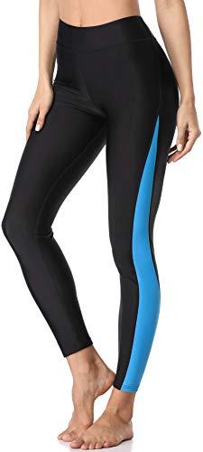 ATTRACO Women UPF 50+ Swim Leggings Rash Guard Swim Pants Swimming Tights Blue M