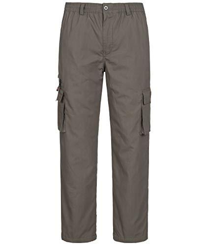 Fashion Herren Thermohose mit Dehnbund - mehrere Farben ID553, Größe:3XL;Farbe:Grau