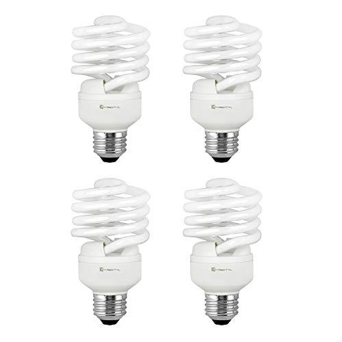 Compact Fluorescent Light Bulb T2 Spiral CFL, 2700k Soft White, 23W (100 Watt Equivalent), 1600 Lumens, E26 Medium Base, 120V, UL Listed (Pack of 4)