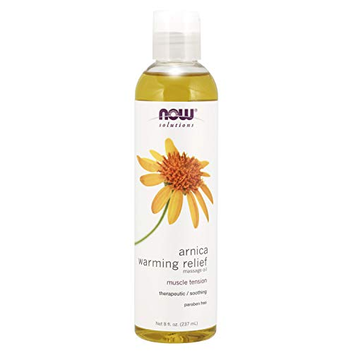 NOW Solutions, Arnica Warming Relief Massage Oil, Therapeutic and Soothing on Sore, Achy Muscles, 8-Ounce (packaging may vary)