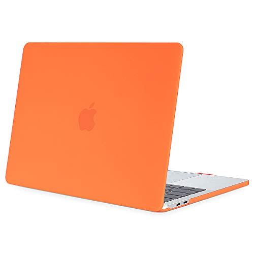 MOSISO MacBook Pro 13 inch Case 2019 2018 2017 2016 Release A2159 A1989 A1706 A1708, Plastic Hard Shell Cover Compatible with MacBook Pro 13 with/without Touch Bar and Touch ID, Orange