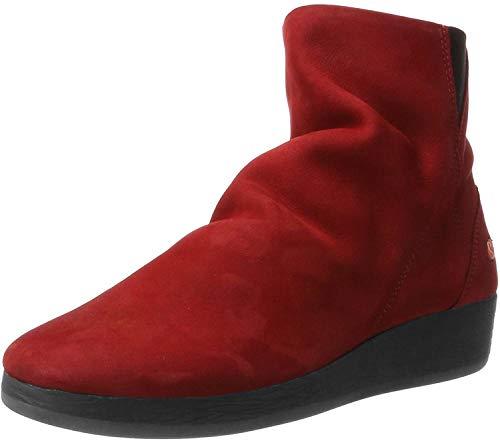 Softinos Damen AYO411SOF Nubuck Leather Stiefel, Rot (Red), 36 EU