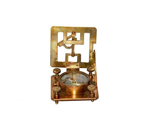 Vimal Nautical Sonnenuhr-Kompass aus Messing, quadratisch, 7,6 cm, Dollond London, handgefertigt, Taschen-Sonnenuhr