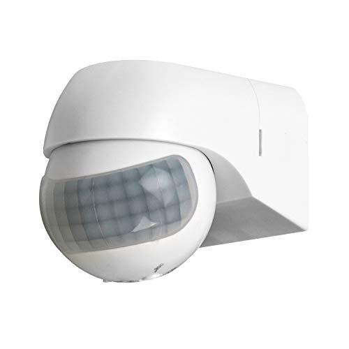 QWORK 110-220V PIR Motion Sensor Light Switch, High Sensitive Waterproof Wall Sensor Light Switch for Outdoor&Indoor, 49-98FT Detection Distance