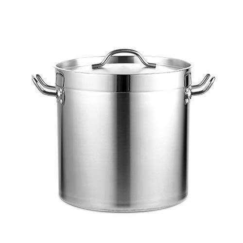 65 litros MNSSRN Cubo de Sopa de Acero Inoxidable Grueso, Cubo de Almacenamiento de ollas de Sopa multifunción sellada a Prueba de Polvo de Gran Capacidad con Tapa y Fondo Compuesto,65L