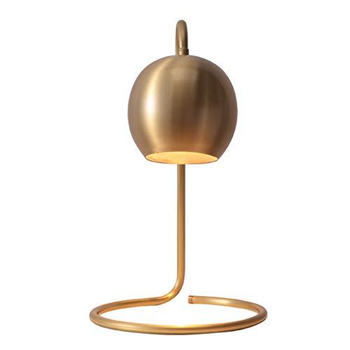 Lámparas de Mesa Lampara mesita noche Nordic Pure Copper Table Lamp American Study Sala de estar Dormitorio Lámpara de cabecera Restaurante Bar Lámpara de mesa creativa Botón Interruptor Mesilla de No
