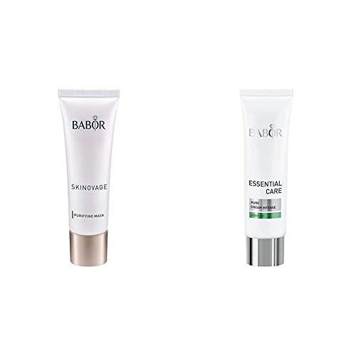 BABOR SKINOVAGE Purifying Mask, klärende Intensivmaske für ölige, unreine Haut, 50 ml & ESSENTIAL CARE Pure Cream Intense, klärende Anti-Pickel Gesichtspflege, für unreine Haut, 50 ml