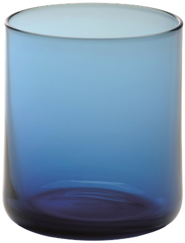 Bitossi Home Set Di 6 Bicchieri Acqua In Vetro, Linea Bloom, Bloom Blu