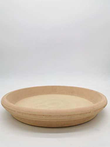 Pflanzenteller | Teller | Vogeltränke aus Terracotta Verschiedene Größen -Echt Terracotta- Ideal für Pflanzgefäße, Blumen- und Übertöpfe -Italienisch- Frostfest und Witterungsbeständig (42cm)