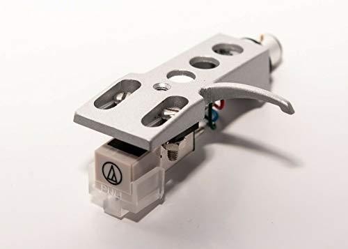 Silver Headshell, AT-3600L Cartridge and Stylus, Needle for Pioneer PLX-1000, PL-518, PL-530, PL-A35, PLX-500, PL-560, PL-200, PL-516, PL-255, PL-200X, XL-A700, PL-A45D