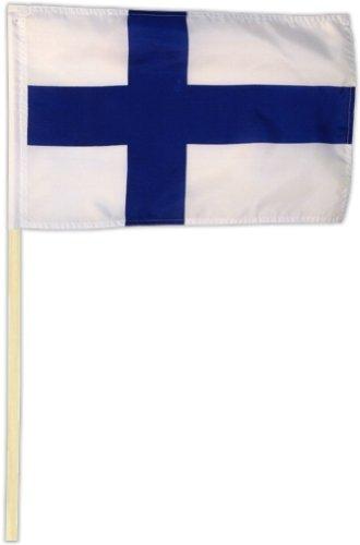 Fahne Flagge Finnland 30 x 45 cm mit Stab