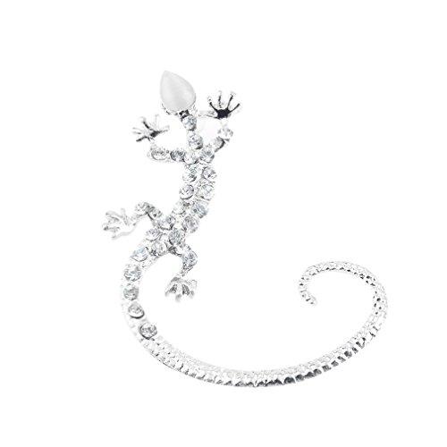 Binghotfire 2015 Fashion Ear Hook Gekkonidae Lizard Stud Earring Popular Silver