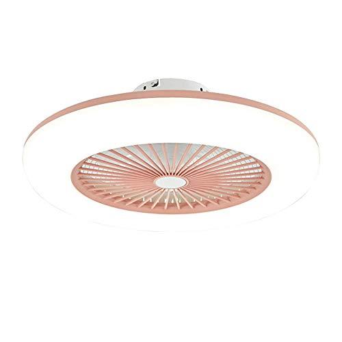 LED-Deckenventilator mit Lichtern Stufenlos Dimmbar mit Fernbedienung, 3-Gang, moderne Deckenventilatorlichter Esszimmer Schlafzimmer Wohnzimmer Fernbedienungslüfter Lüfter Beleuchtung-Pink