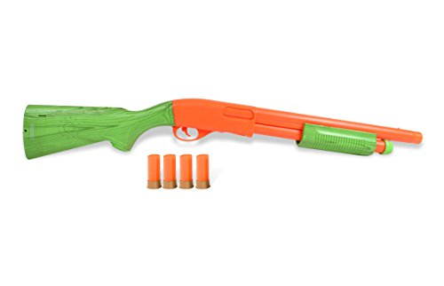 Sunny Days Entertainment Pump Action Shotgun – With Realistic Sounds and Ejecting Play Shells Orange Hunting Role Play Toy For Kids NY and CA Compliant – Maxx Action