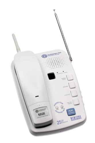 Southwestern Bell FF680 25 Channel Digital Telephone/Answering Device (White)