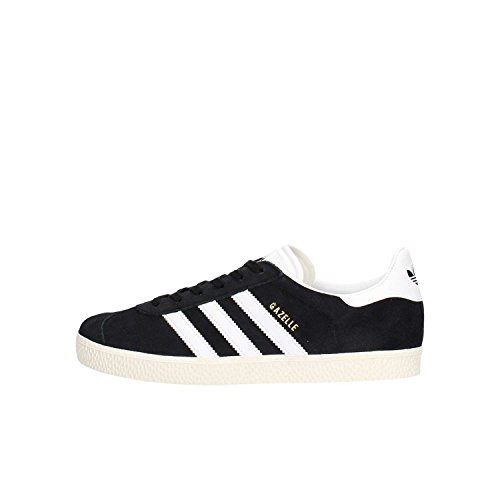 ADIDAS Gazelle J, Zapatillas Unisex Adulto, Negro (Core Black/Footwear White/Gold Metallic 0), 38 EU