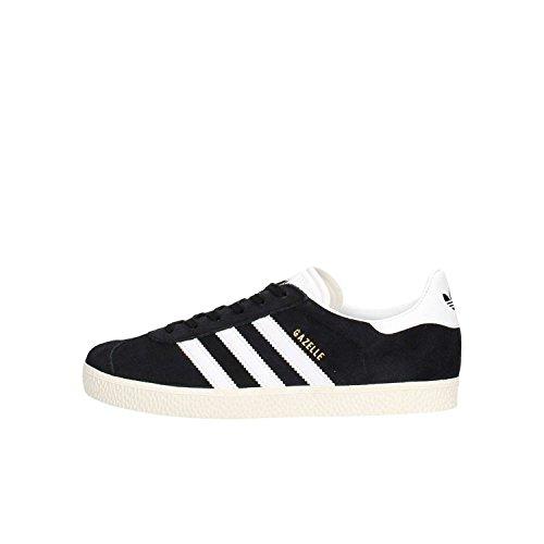Adidas Gazelle J, Scarpe da Ginnastica Basse Unisex - Bambini, Nero (Negbas/Ftwbla/Dormet 000), 38 2/3 EU