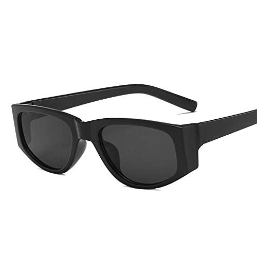 AMFG Fashion Sunglasses Street Shooting Retro Personalidad Pequeño Marco Gafas (Color : E)