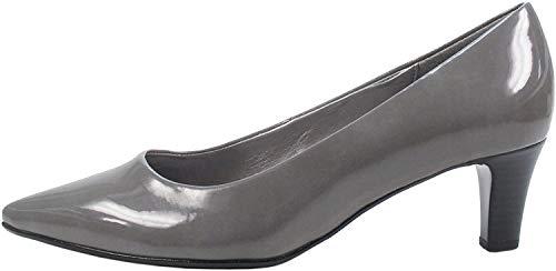 Gabor 91-350 Schuhe Damen Pumps Weite F Lack, Größe:40 EU, Farbe:Grau