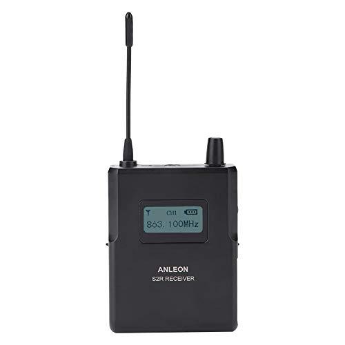 Receptor de Monitor de Escenario 863-865MHz Sonido Claro de 1/4 de Longitud de Onda para el Sistema de Monitor inalámbrico de Escenario ANLEON S2 in-Ear, Pantallas LCD Frequenc