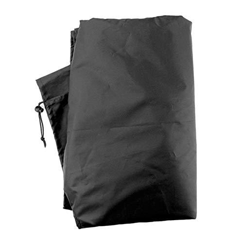 Cubierta de la Tumbona Resistente al Agua Cubierta de la Silla del salón del Sol Cubierta de la Silla del Patio al Aire Libre Protector de Polvo de los Muebles - Negro